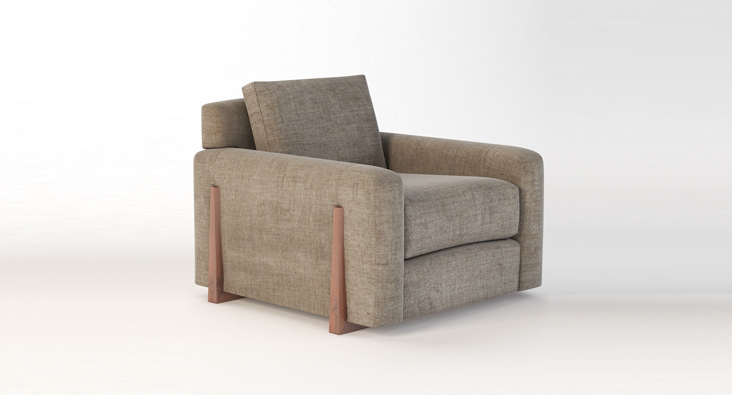 3D seating armchair model