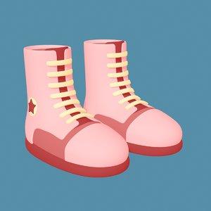 boot converse shoes 3D model