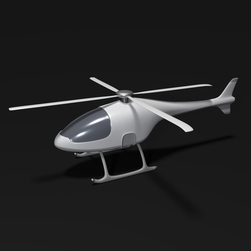 3D futuristic helicopter