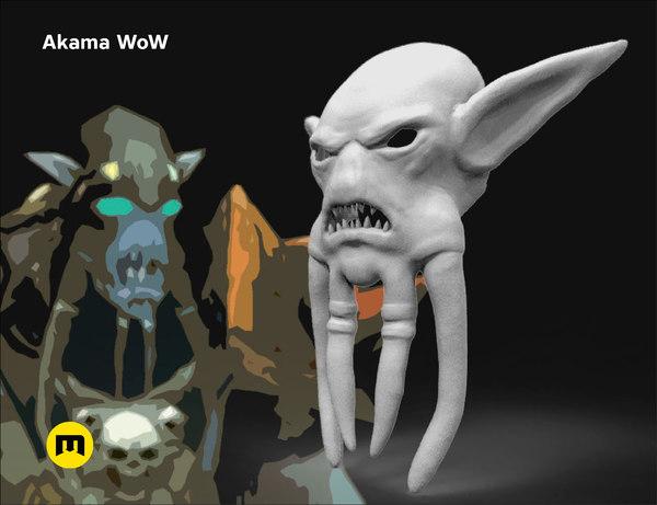 akama mask wow warcraft 3D