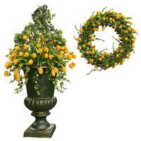 3D vase wreath model