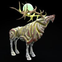 deer magic stone 3D model