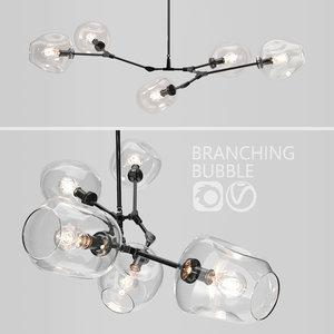 branching bubble 5 lamps model