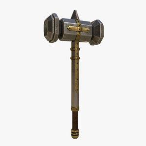 3D hammer metal model