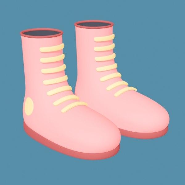 boot shoes 3D model