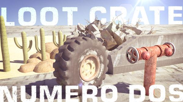 3D loot crate 2 concrete barrier