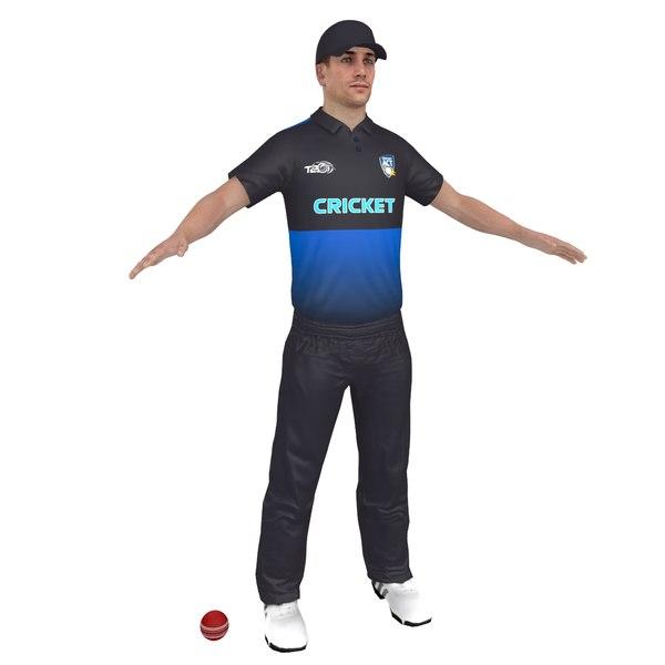 3D model cricket player