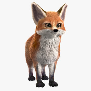 cartoony fox foxy 3D model
