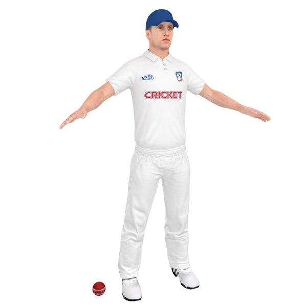 cricket player 3D