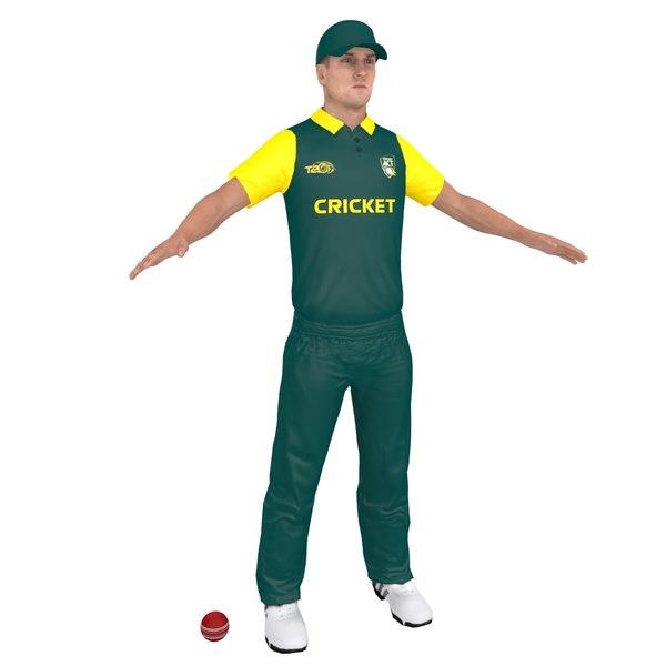 cricket player 3D model