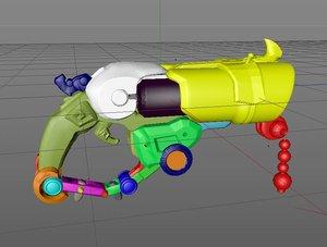 3D overwatch roadhog gun bajie