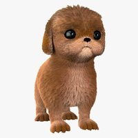 realistic puppy 3D model