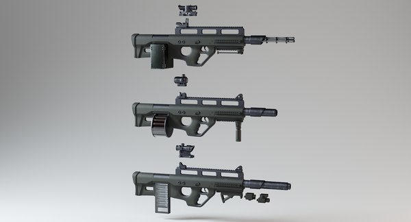 3D heavy modular gun model
