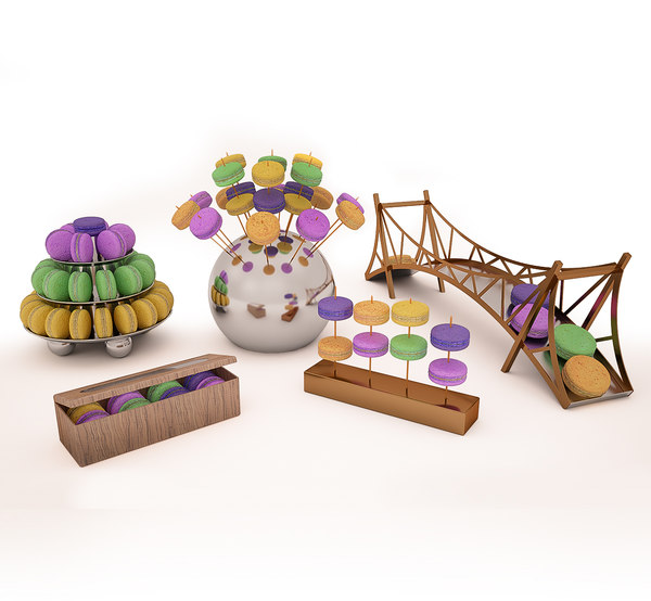3D macaroon stand model