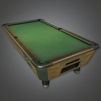Pool Table (Dive Bar) - PBR Game Ready