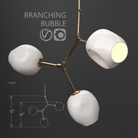 branching bubble 3 lamps 3D model