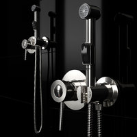 hygienic shower grohe bauclassic 3D model