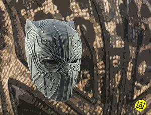 killmonger mask print modelling model