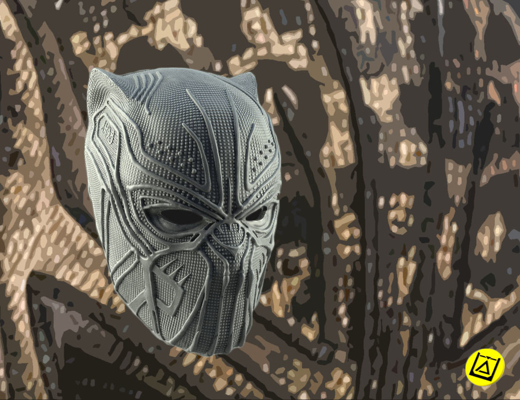 killmonger mask print modelling model
