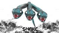 Mythological Snake - 3 headed