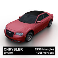 3D 2015 chrysler 300 sedan model