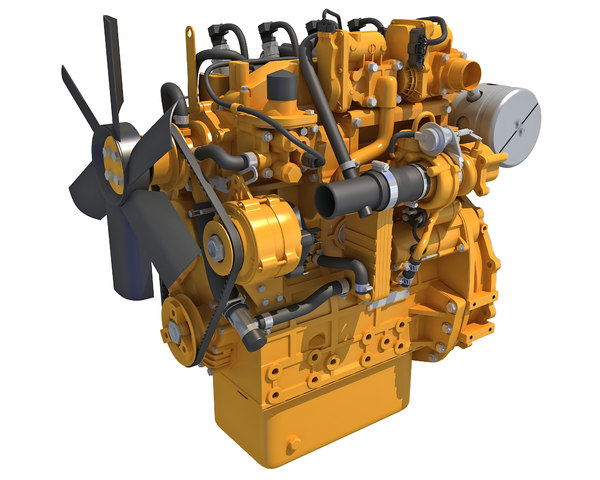 3D model industrial diesel engine