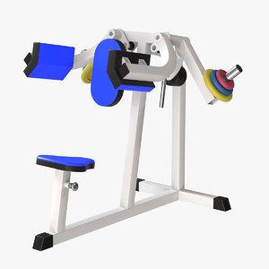 lateral raise 3D model