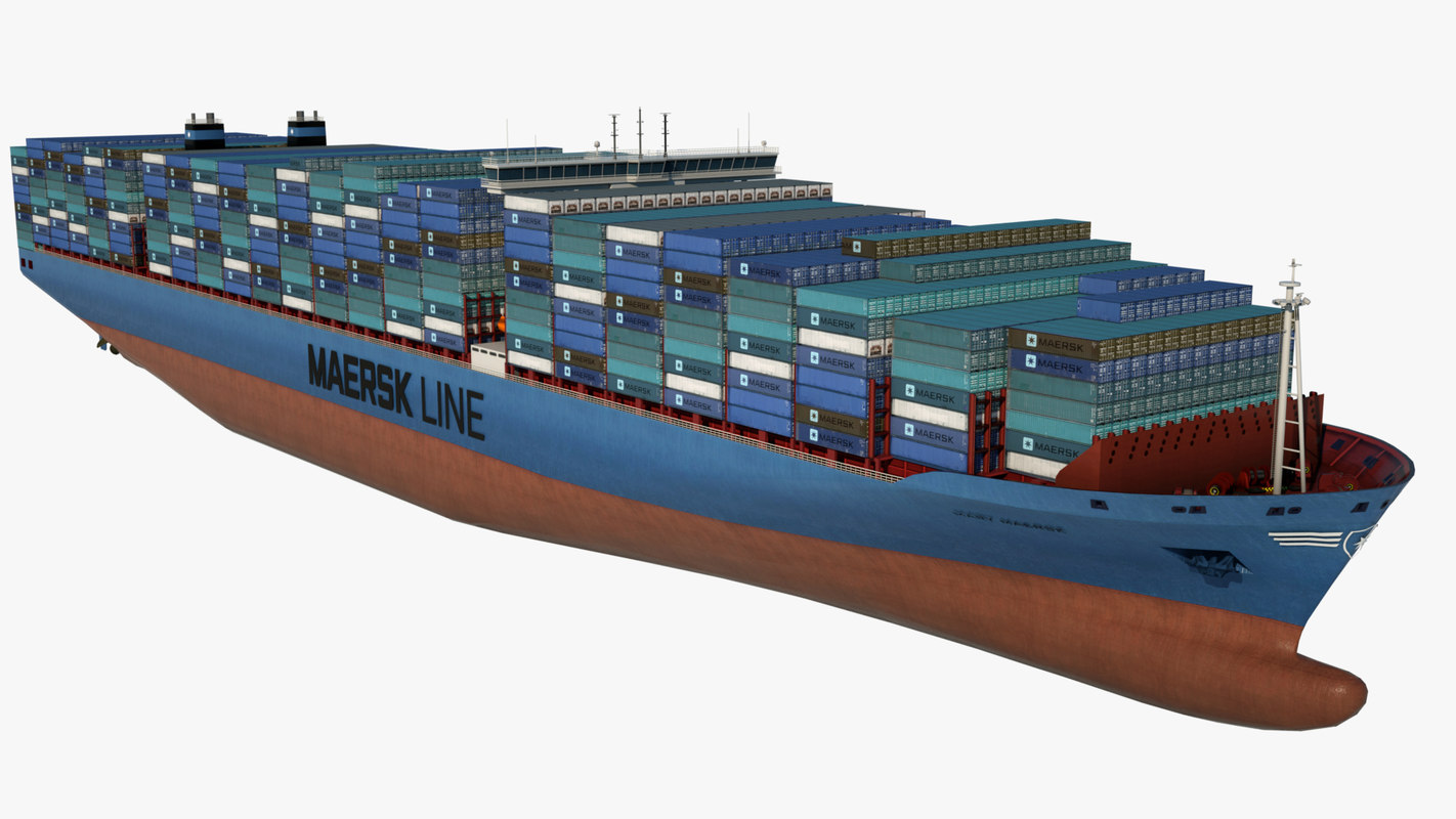 3D container ship mary maersk