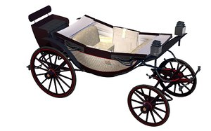 3D ascot landau carriage