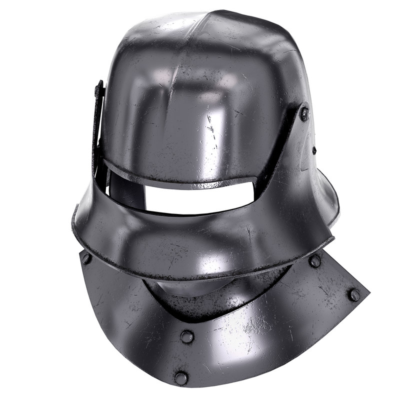 Knight Sallet Helmet with Visor and Gorget