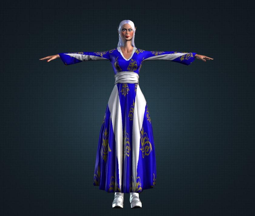 elf white sparkle 3D