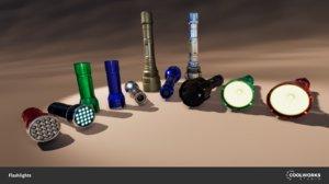 3D flashlight light model