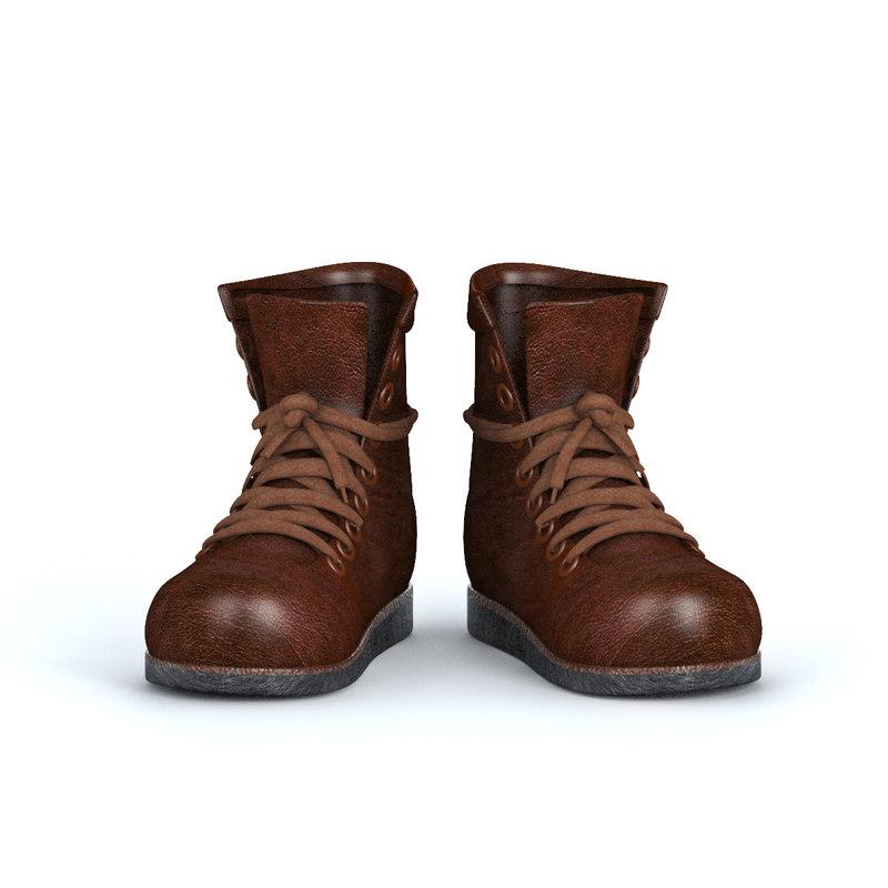3D model men leather