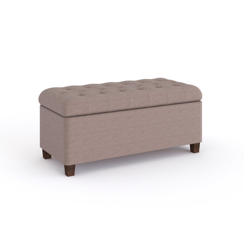 3D model tufted storage bench
