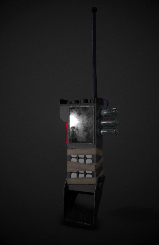 3D model sci-fi device
