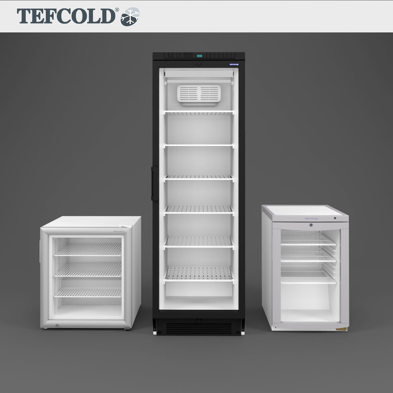 3D model tefcold bc85 display freezers