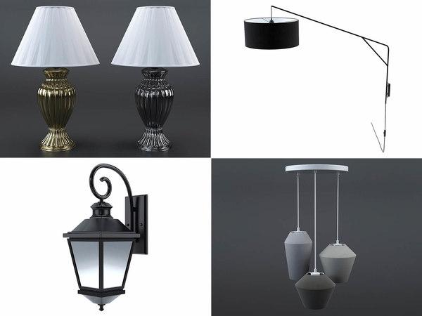 3D lamps bedside wall