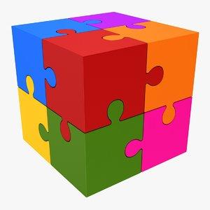 3D puzzle cube model
