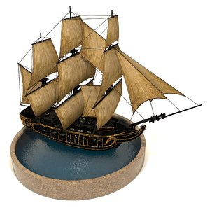 3D pirate games sails model