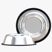 stainless steel dog bowl 3D model