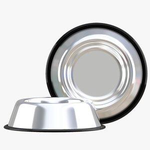 stainless steel dog bowl 3D model