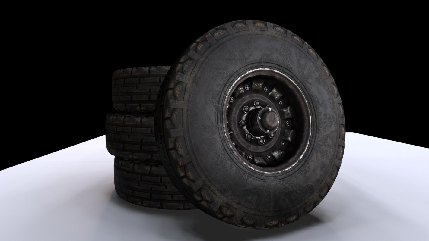 tractor trailer wheel 3D model