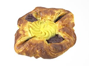 3D model photorealistic scanned danish pastry
