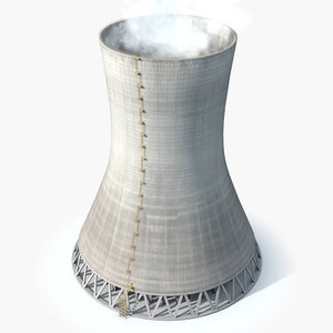 3D cooling tower steam clouds