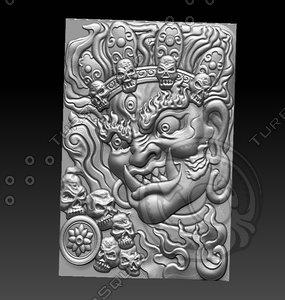 stl king evil 3D model