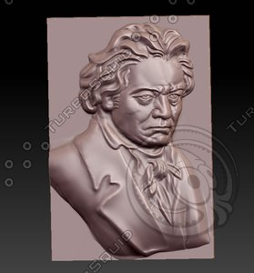 3D model sculpture relief engraving