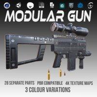 pbr gun ar 3D model