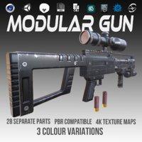 3D pbr gun ar model