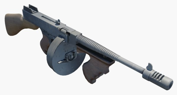 gun tommy 1928 3D model