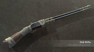 old rifle - antique 3D